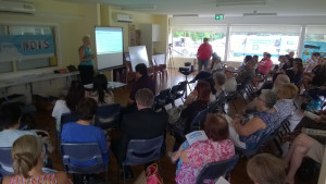 Photo of a group of people at an NDIS information session